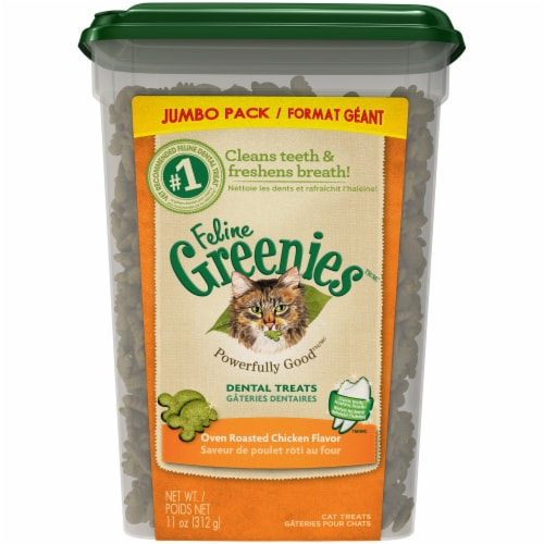 Greenies Feline Oven Roasted Chicken Flavor Dental Treats Perspective: front