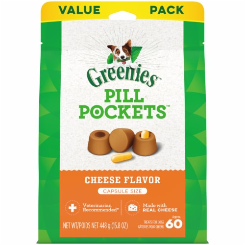 Greenies Pill Pockets Cheese Flavor Dog Treats Perspective: front