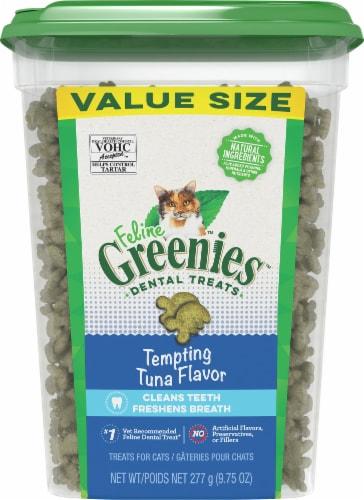 Feline Greenies Tempting Tuna Flavor Cat Dental Treats Perspective: front