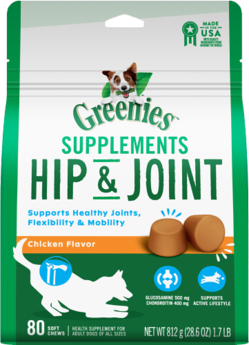 Greenies™ Hip & Joint Supplements For Adult Dogs Perspective: front