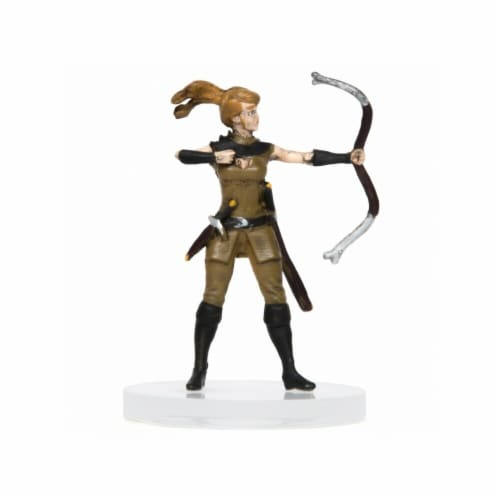 Role 4 Initiative R4I60001-PC Characters of Adventure Female Human Archer Miniature Perspective: front