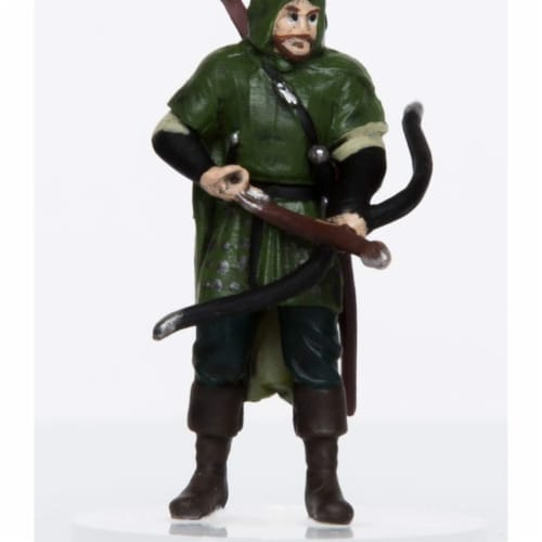 Role 4 Initiative Characters of Adventure Male Human Ranger Miniature Perspective: front