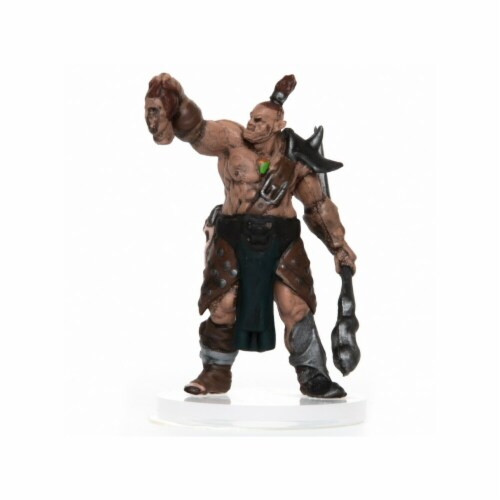 Role 4 Initiative Characters of Adventure Male Orc Shaman Miniature Perspective: front