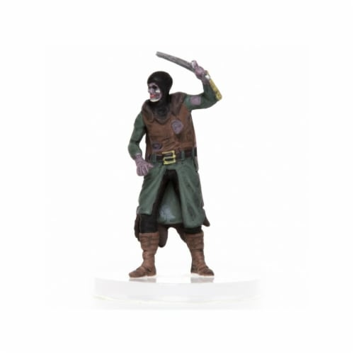 Role 4 Initiative Characters of Adventure Zombie Male Human Captain Miniature Perspective: front