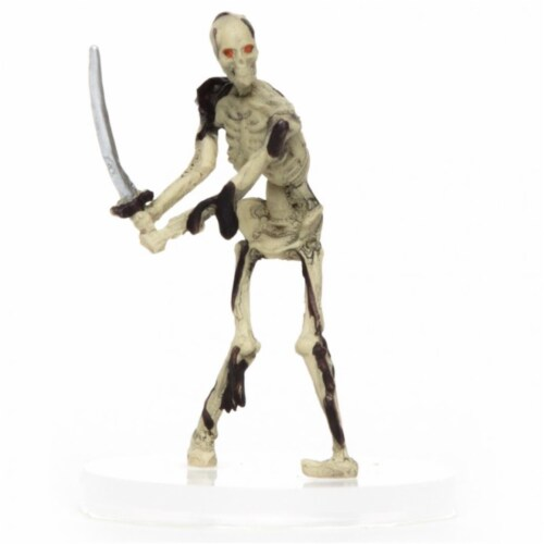 Role 4 Initiative Characters of Adventure Skeleton Swordsman Miniature Perspective: front