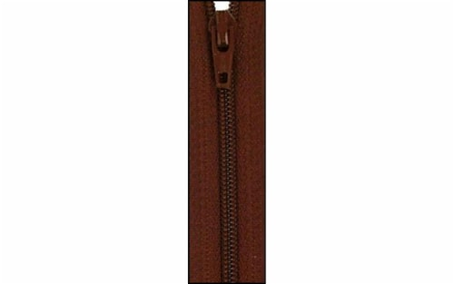 Atkinson Designs YKK Zipper 14  Chocolate Syrup Perspective: front