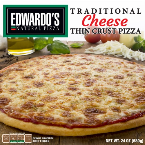 Edwardo's Thin Crust Traditional Cheese Pizza Perspective: front