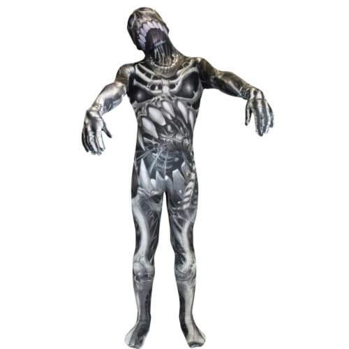 Morris Costumes MH13105 Morph Skull N Bones Child Costume, Large Perspective: front