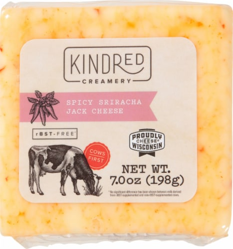 KINDRed Creamery Spicy Sriracha Jack Cheese Rounds Perspective: front