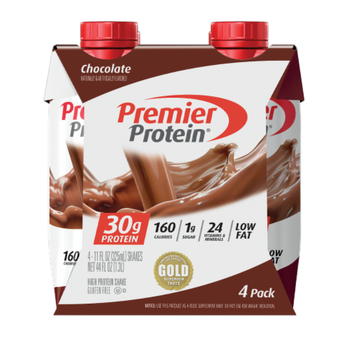Premier Protein Chocolate Shakes Perspective: front