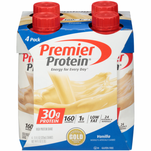 Premier Protein Vanilla High Protein Shakes Perspective: front