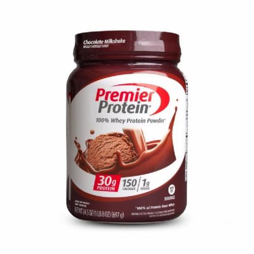 Premier Protein Chocolate Milkshake Powder Perspective: front