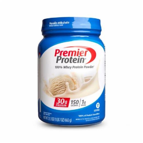 Premier Protein Vanilla Milkshake Powder Perspective: front