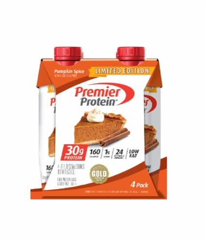 Premier Protein Limited Edition Pumpkin Spice High Protein Shake Perspective: front