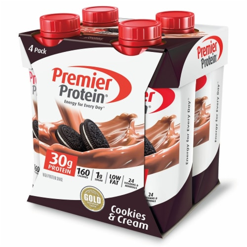 Premier Protein Cookies & Cream High Protein Shakes Perspective: front