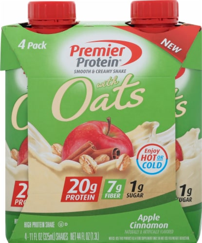 Premier Protein Apple Cinnamon with Oats Protein Shakes (4 Pack) Perspective: front