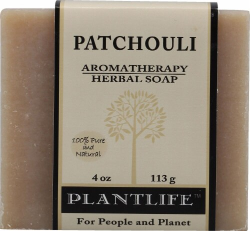 Plantlife Aromatherapy Herbal Soap Patchouli Perspective: front
