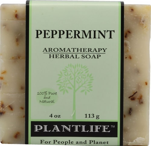 Plantlife Aromatherapy Herbal Soap Peppermint Perspective: front