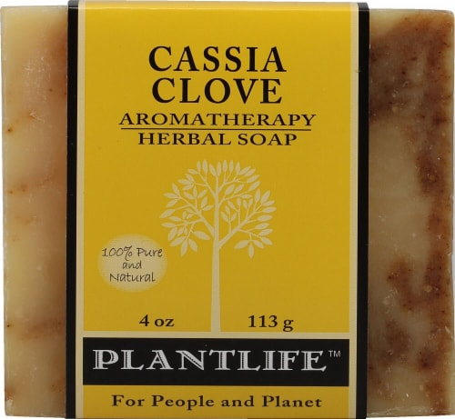 Plantlife Aromatherapy Herbal Soap Cassia Clove Perspective: front