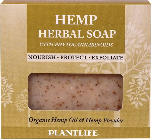 Plantlife Hemp Herbal Soap with Phytocannabinoids Perspective: front