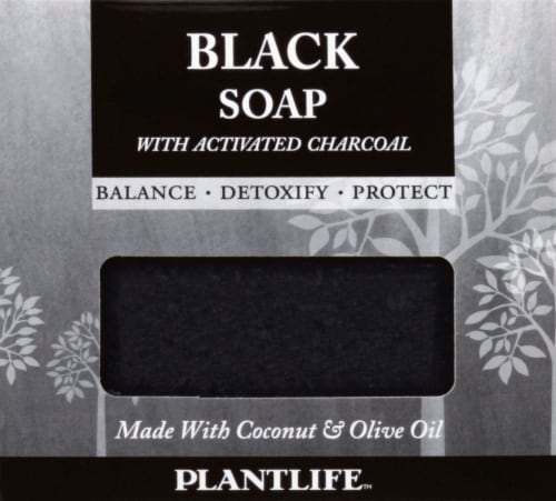 Plantlife Black Soap with Acitvated Charcoal Perspective: front