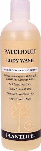 Plantlife Patchouli Body Wash Perspective: front