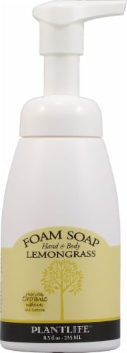 Plantlife Hand and Body Foam Soap Lemongrass Perspective: front
