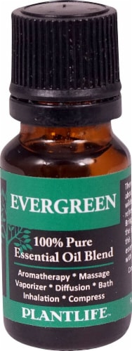 Plantlife 100% Pure Essential Oil Blend Evergreen Perspective: front