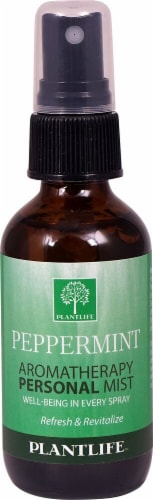 Plantlife Peppermint Aromatherapy Personal Mist Perspective: front