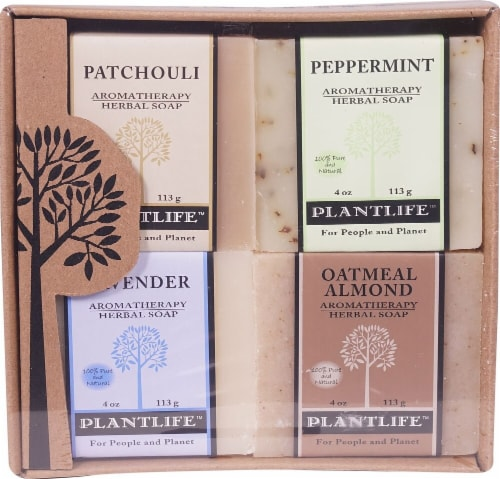 Plantlife Earth Aromatherapy Herbal Soap Combo Perspective: front