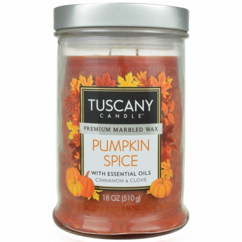 Tuscany Candle Pumpkin Spice Scented Jar Candle - Orange Perspective: front