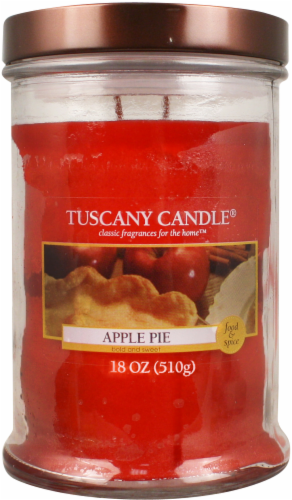 Tuscany Candle Apple Pie Jar Candle - Red Perspective: front