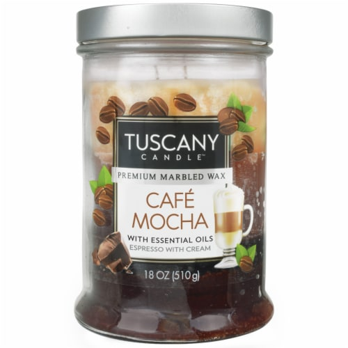 Tuscany Candle Triple Pour Cafe Mocha Glass Jar Candle - Brown Perspective: front