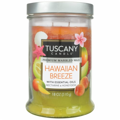 Tuscany Hawaiian Breeze Scented Jar Candle Perspective: front