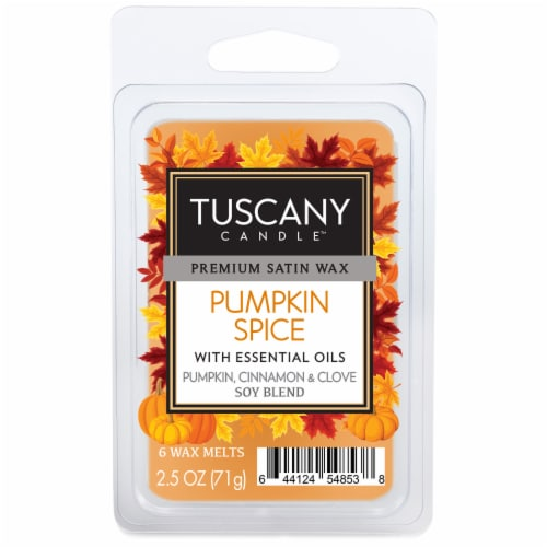 Tuscany Candle Pumpkin Spice Wax Melts Perspective: front