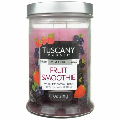 Tuscany Candle Fruit Smoothie Triple Pour Glass Jar Candle Perspective: front