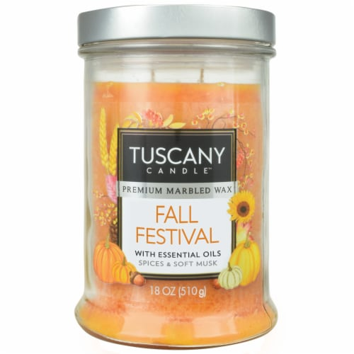Tuscany Candle Fall Festival Scented Jar Candle Perspective: front