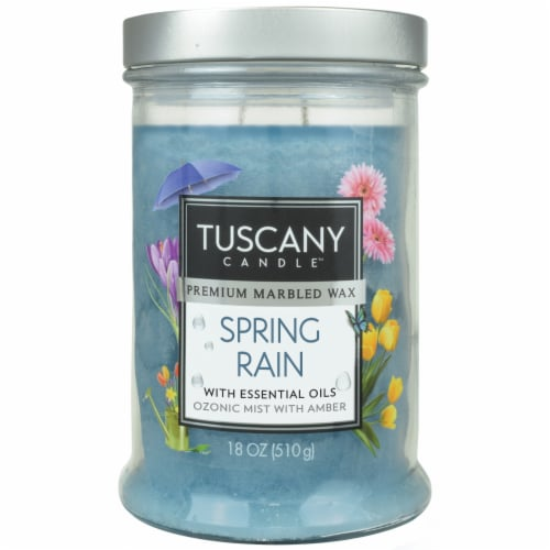 Tuscany Candle Candle Spring Rain Jar Candle - Blue Perspective: front