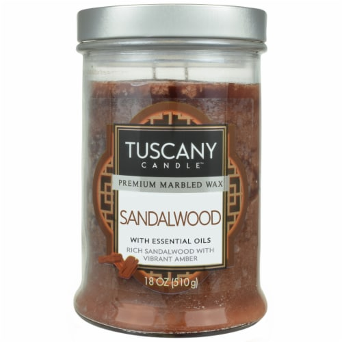 Tuscany Candle Candle Sandalwood Jar Candle - Brown Perspective: front