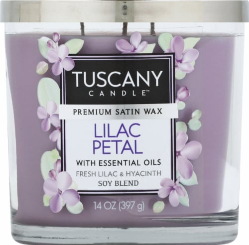 Tuscany Candle Lilac Petal Jar Candle Perspective: front