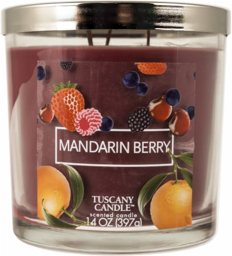 Tuscany Candle Mandarin Berry Jar Candle - Red Perspective: front