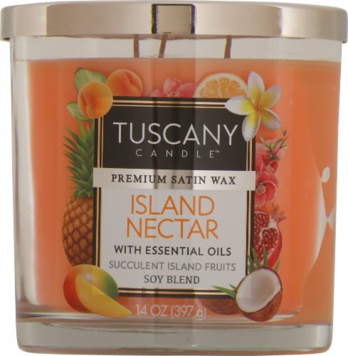 Tuscany Candle Island Nectar Scented Jar Candle - Orange Perspective: front
