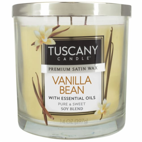 Tuscany Candle Vanilla Bean Scented Jar Candle - Cream Perspective: front
