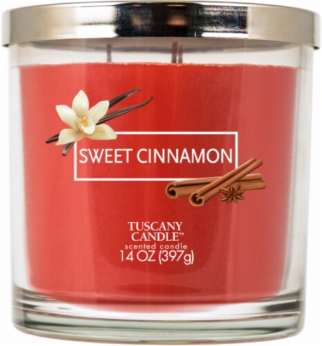 Tuscany Candle Sweet Cinnamon Jar Candle Perspective: front