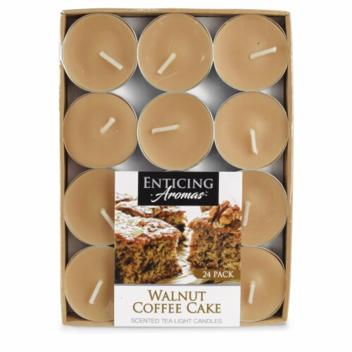 Enticing Aromas Walnut Coffee Cake Scented Tea Light Candles - Brown Perspective: front