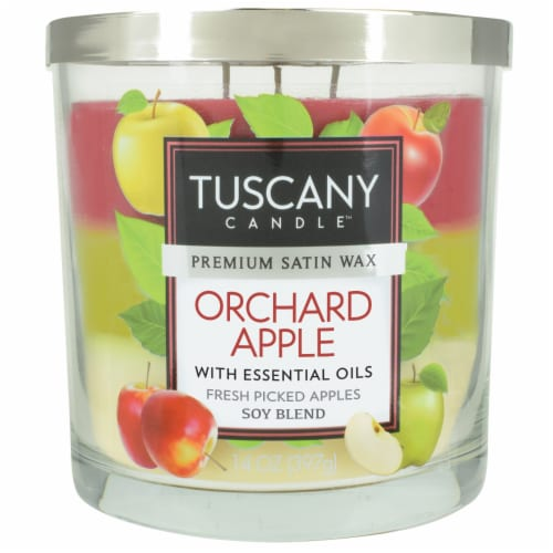 Tuscany Candle Orchard Apple Scented Triple Pour Jar Candle Perspective: front