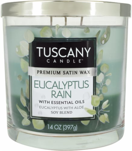 Tuscany Candle™ Eucalyptus Rain Scented Triple Pour Jar Candle Perspective: front