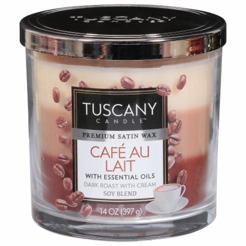 Tuscany Candle Café Au Lait Scented Triple Pour Jar Candle Perspective: front