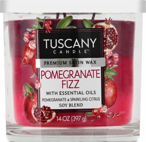 Tuscany Candle Pomegranate Fizz Scented Triple Pour Jar Candle Perspective: front