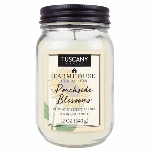 Tuscany Candle Farmhouse Collection Porchside Blossoms Scented Jar Candle Perspective: front